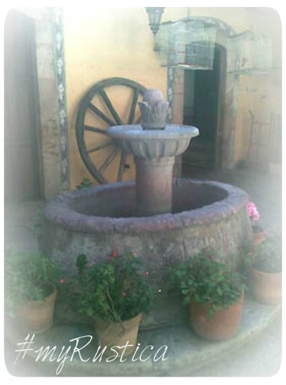 handmade cantera stone fountains from Mexico for garden wall, yard and free standing