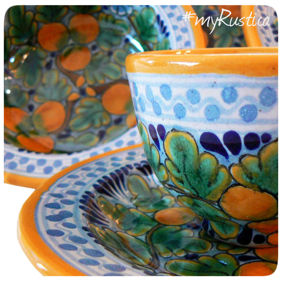 Mexican Talavera flower pots, painted planters, sconces, handcrafted for rustic patio, veranda and garden. Hand painted ceramic tableware soup bowls, table serving plates, dishes, decorative candle holders and gifts from Dolores Hidalgo.