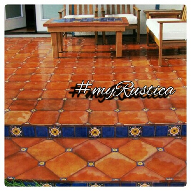 rustic clay floor tiles from mexico