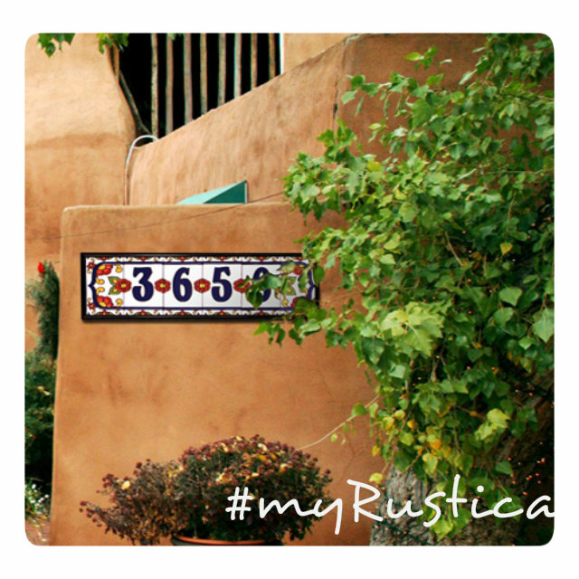 rustic home accent ceramic tile numbers mexico